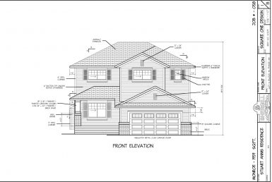 Shergill Homes - Plans for Fort McMurray / Fort Mac; 1959 sqft Two Storey Front Elevation