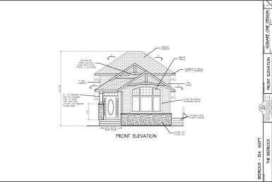 Shergill Homes - Plans for Fort McMurray / Fort Mac; Bedrock Bi-Level Bungalow 1124 sq. ft front