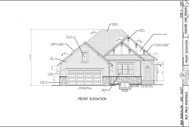 Shergill Homes - Plans for Fort McMurray / Fort Mac; Bungalow with garage 1492 sq. ft front view