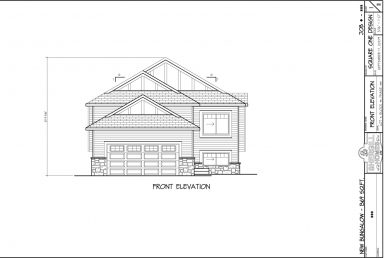 Shergill Homes - Plans for Fort McMurray / Fort Mac; Bungalow with garage 1369 sq. ft front view