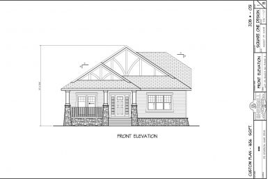 Shergill Homes - Plans for Fort McMurray / Fort Mac; Bi-level Bungalow with double car garage 1656 sq. ft front