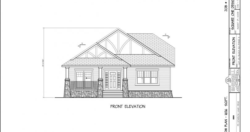 Custom-Bungalow-Bi-Level-double-garage-1659sqft-front