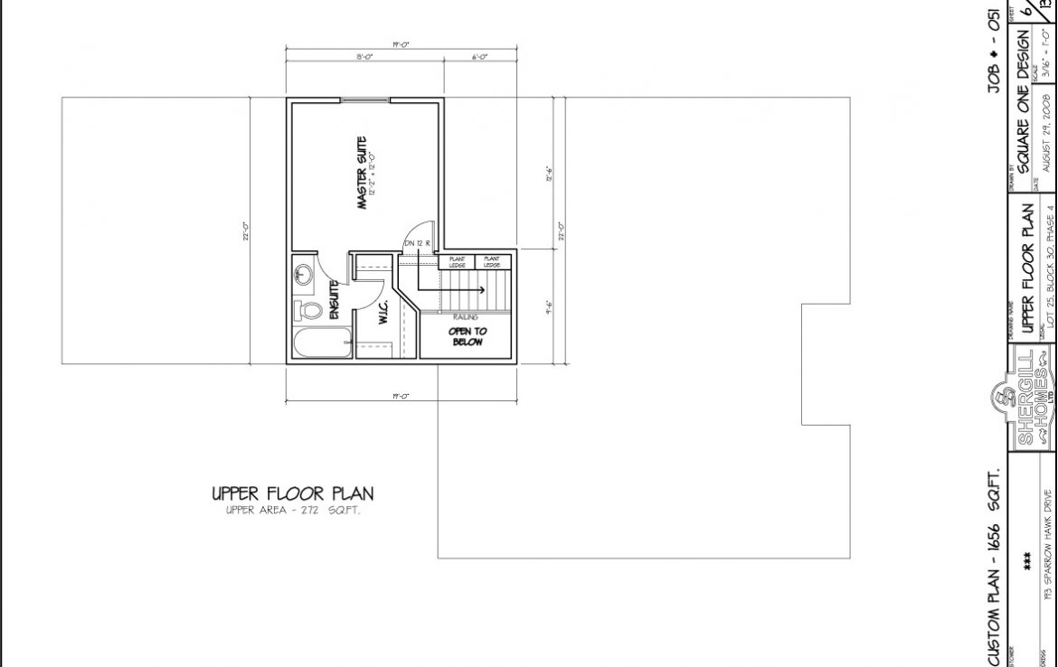 Shergill Homes - Plans for Fort McMurray / Fort Mac; ; Bi-level Bungalow with double car garage 1656 sq. ft upper floor plan
