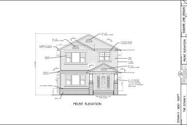 Shergill Homes - Plans for Fort McMurray / Fort Mac; Two Storey Jovan2 1650 sq ft front elevation