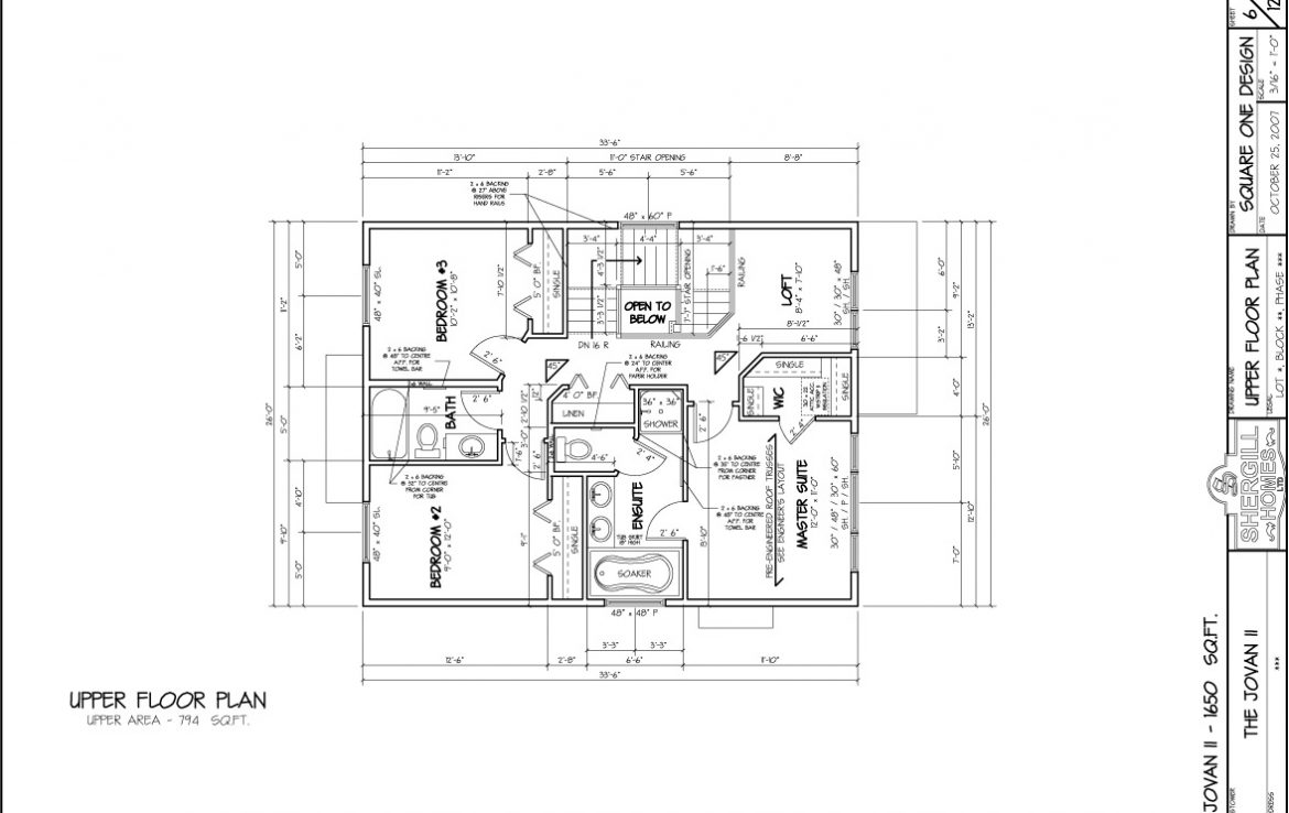 Shergill Homes - Plans for Fort McMurray / Fort Mac; ; Two Storey Jovan2 1650 sq ft upper level floor plan