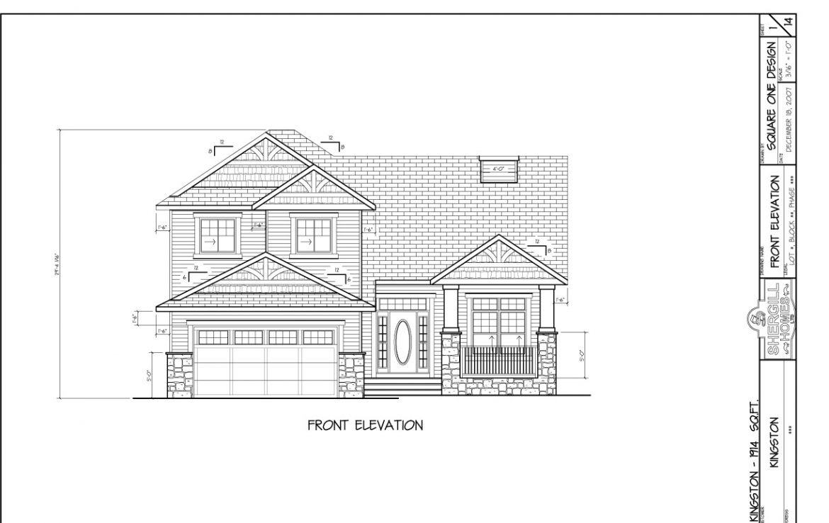 Shergill Homes   Plans for Fort McMurray   Fort Mac  Two Storey Kingston  1914 sq. The Kingston 1914 sq ft Split Level   Shergill Homes
