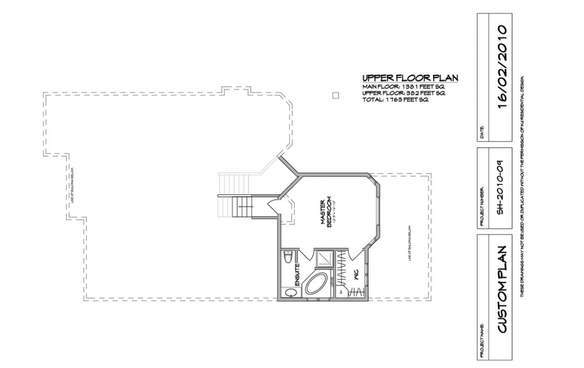 Shergill Homes - Plans for Fort McMurray / Fort Mac; Two Storey Marco 1763 sq ft Upper Level Floorplan