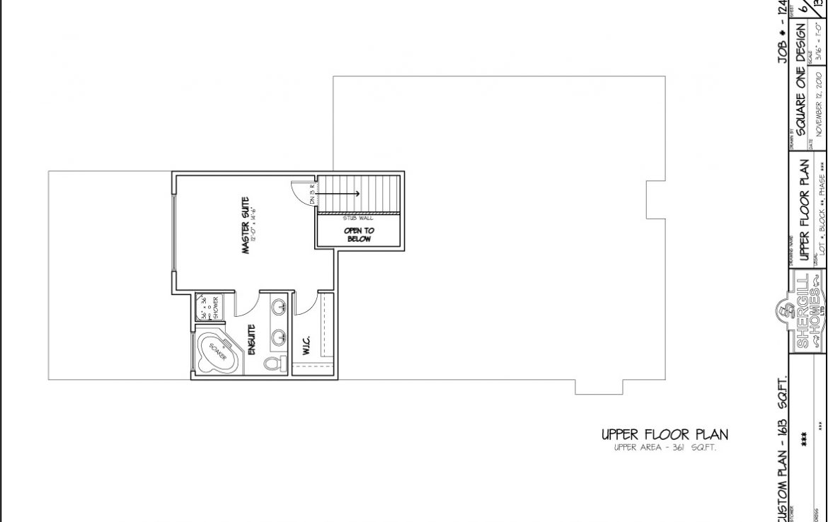 Shergill Homes - Plans for Fort McMurray / Fort Mac; Modified Bungalow 1613 sq. ft floor plan