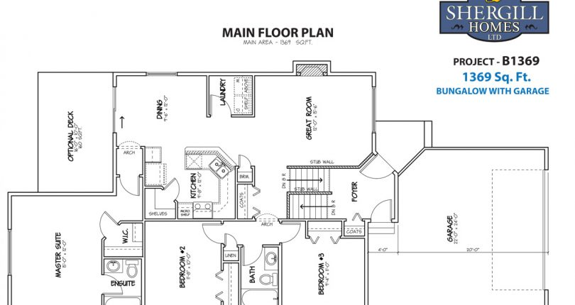 Go Bungalow Floor Plans | Project B 1369 Sq Ft Bungalow Shergill Homes