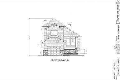 Shergill Homes - Plans for Fort McMurray / Fort Mac; The Manchester 1319 sq ft Two Storey Front Elevation