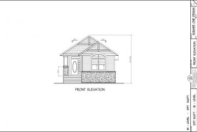 Shergill Homes - Plans for Fort McMurray / Fort Mac; The Rockford Bi-Level Bungalow 1297 sq. ft front