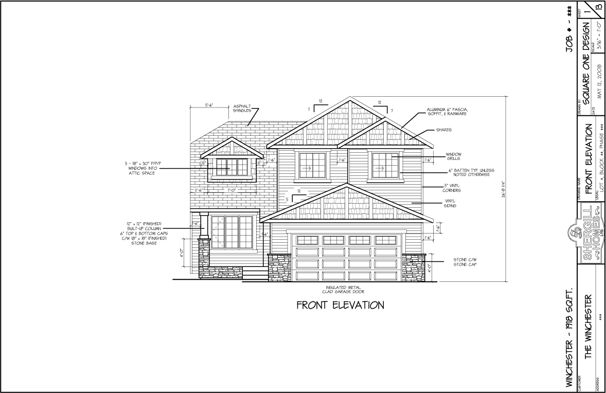 Two Storey Front Elevation : The winchester sq ft two storey shergill homes