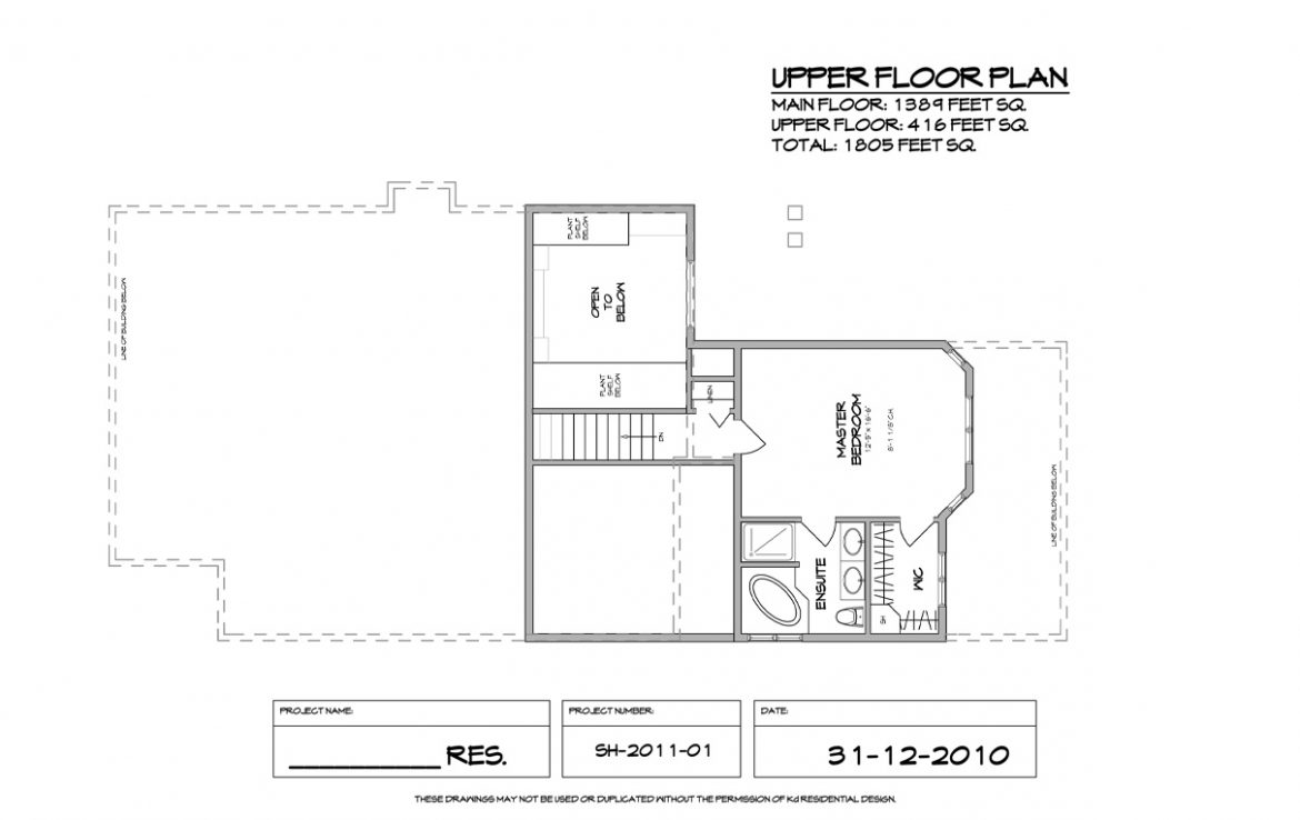 Shergill Homes - Plans for Fort McMurray / Fort Mac; Two Storey 1805 sq ft Uppe Floor Plan