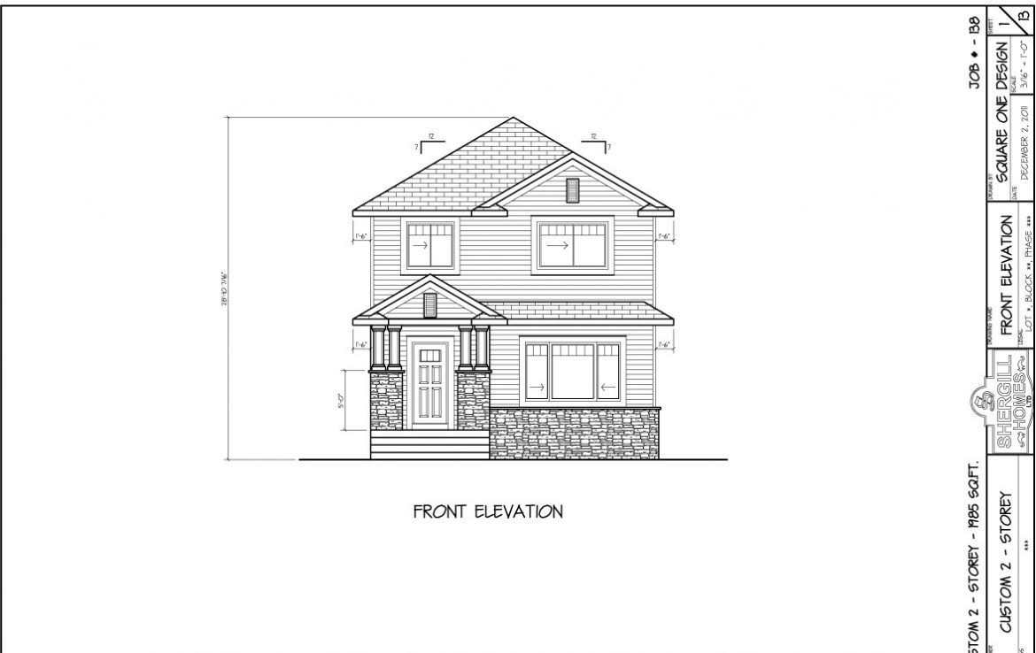 Floor Plan And Elevation Of A Two Storey House : Two storey sq ft bedroom shergill homes