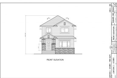 Shergill Homes - Plans for Fort McMurray / Fort Mac; ; Two Storey 1985 sq ft 4 bedroom no garage front elevation