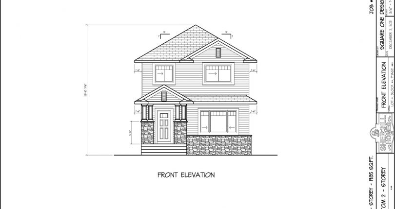Two-storey-1985-sqft-no-garage-4bedroom-front-elevation
